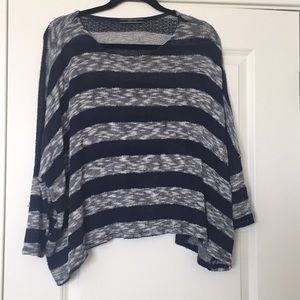 Tops - Navy and grey summer sweater